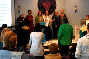 Celebration Center choir at Sunday service